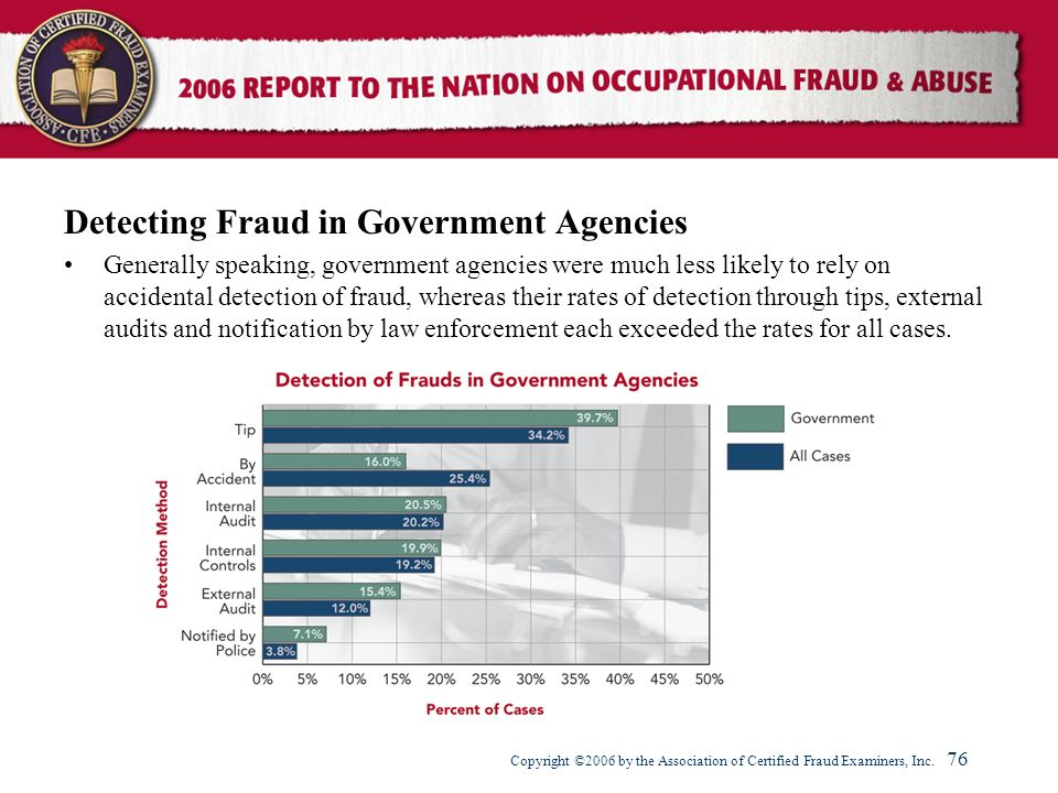 Detecting Fraud in Government Agencies