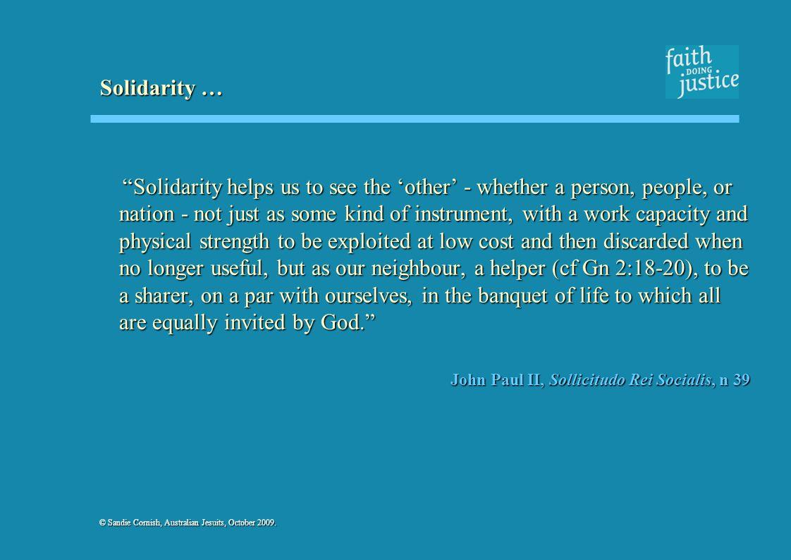 Solidarity …