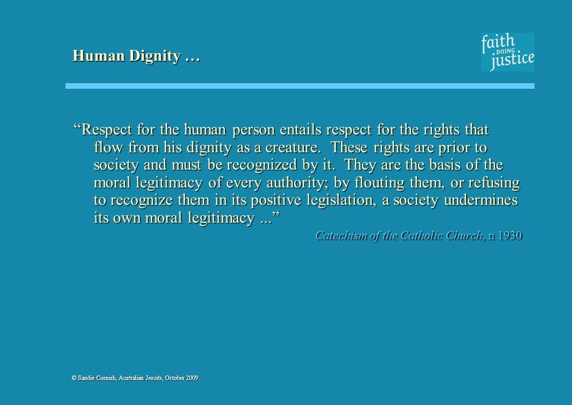 Human Dignity …