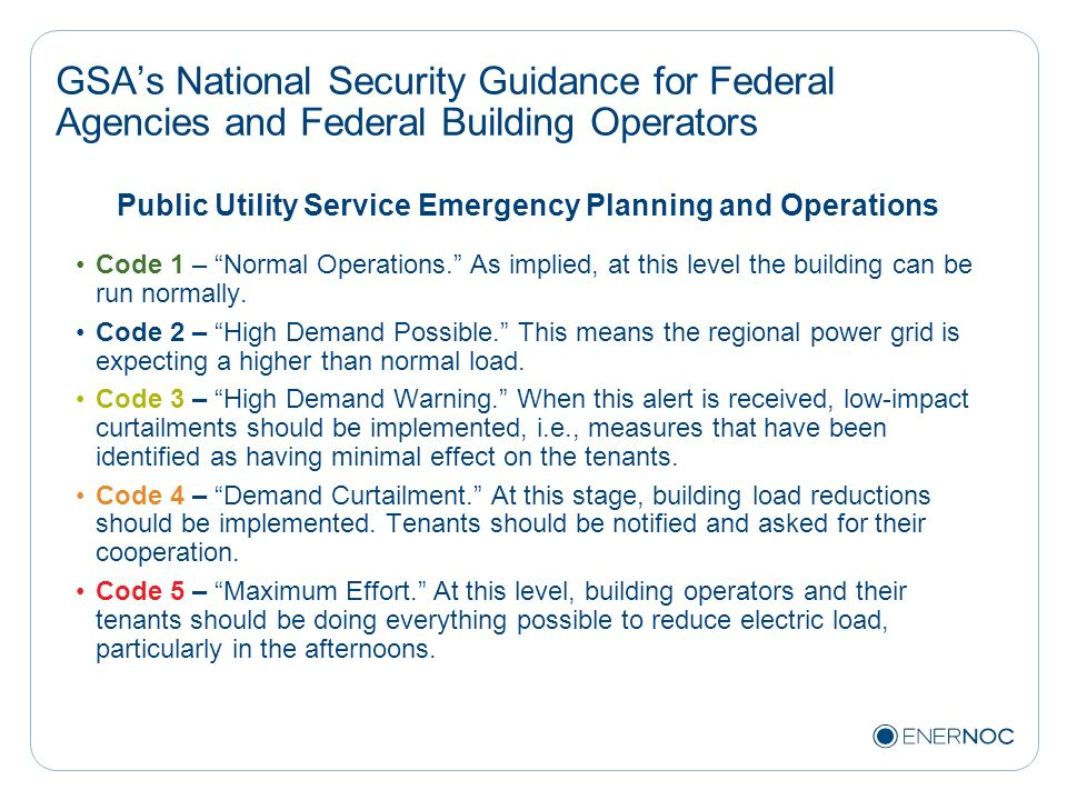 Public Utility Service Emergency Planning and Operations