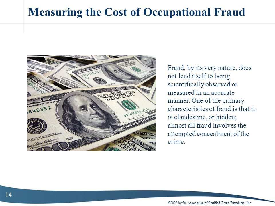 Measuring the Cost of Occupational Fraud