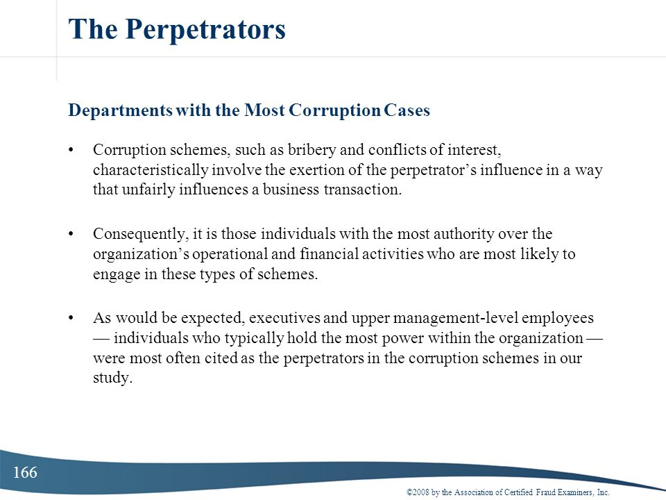 The Perpetrators Departments with the Most Corruption Cases