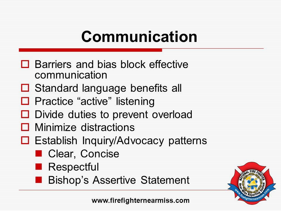 Communication Barriers and bias block effective communication