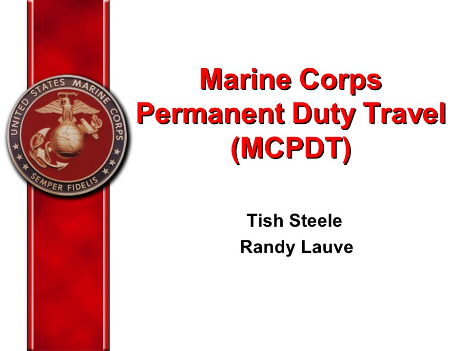 Marine corps permanent duty travel mcpdt ppt download for Marine corps powerpoint template