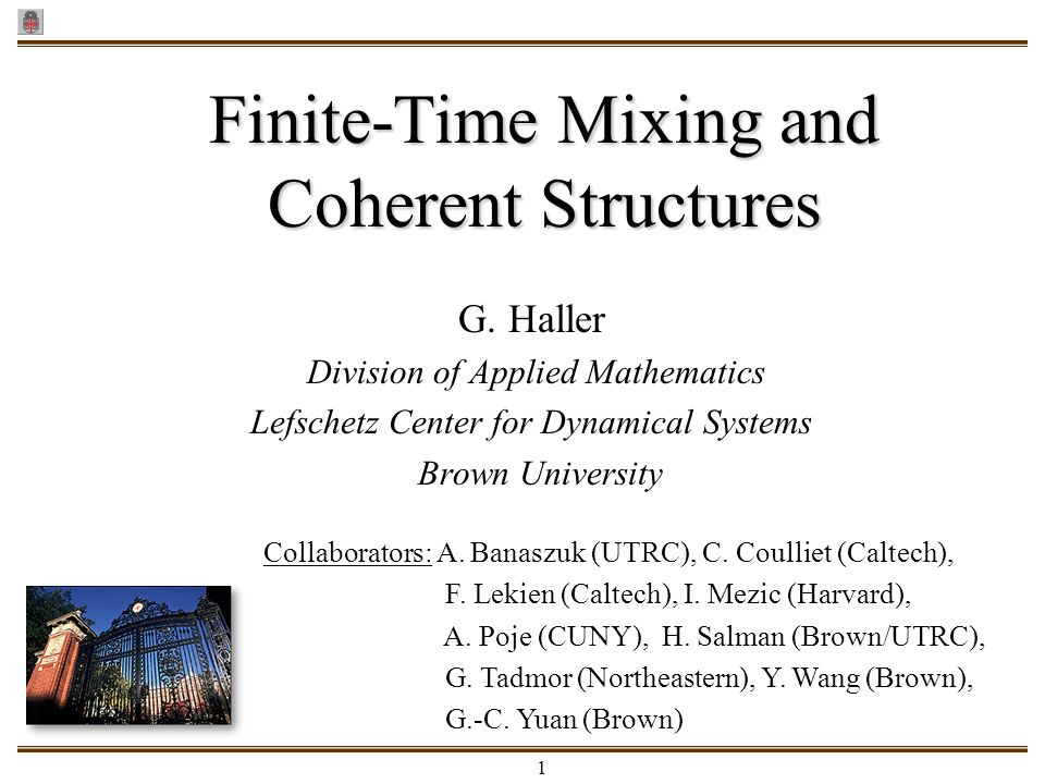 Finite-Time Mixing and Coherent Structures