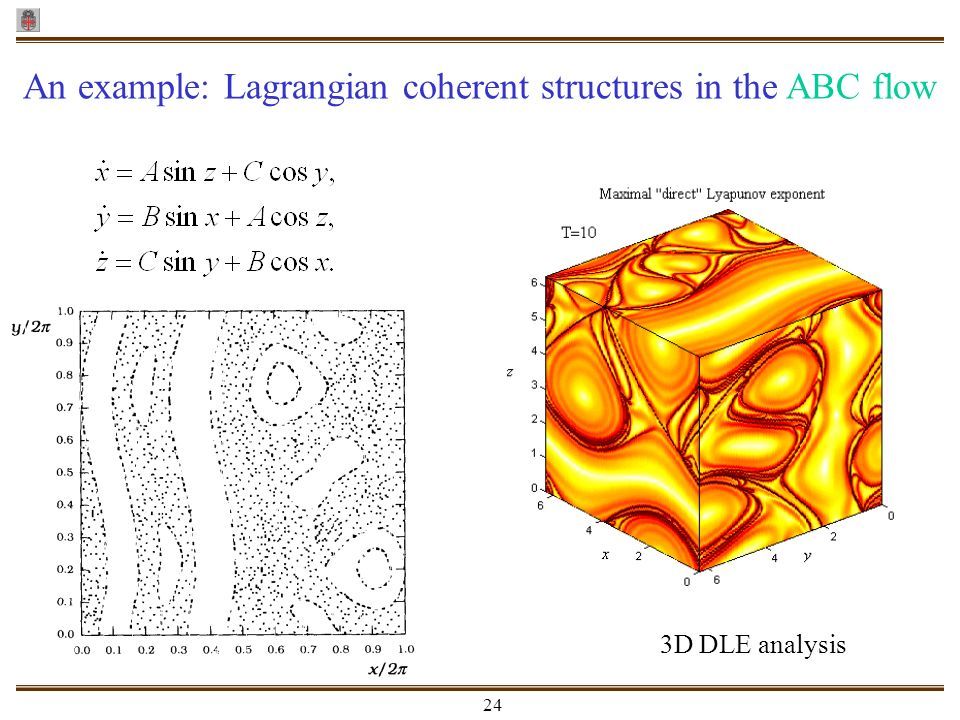 An example: Lagrangian coherent structures in the ABC flow