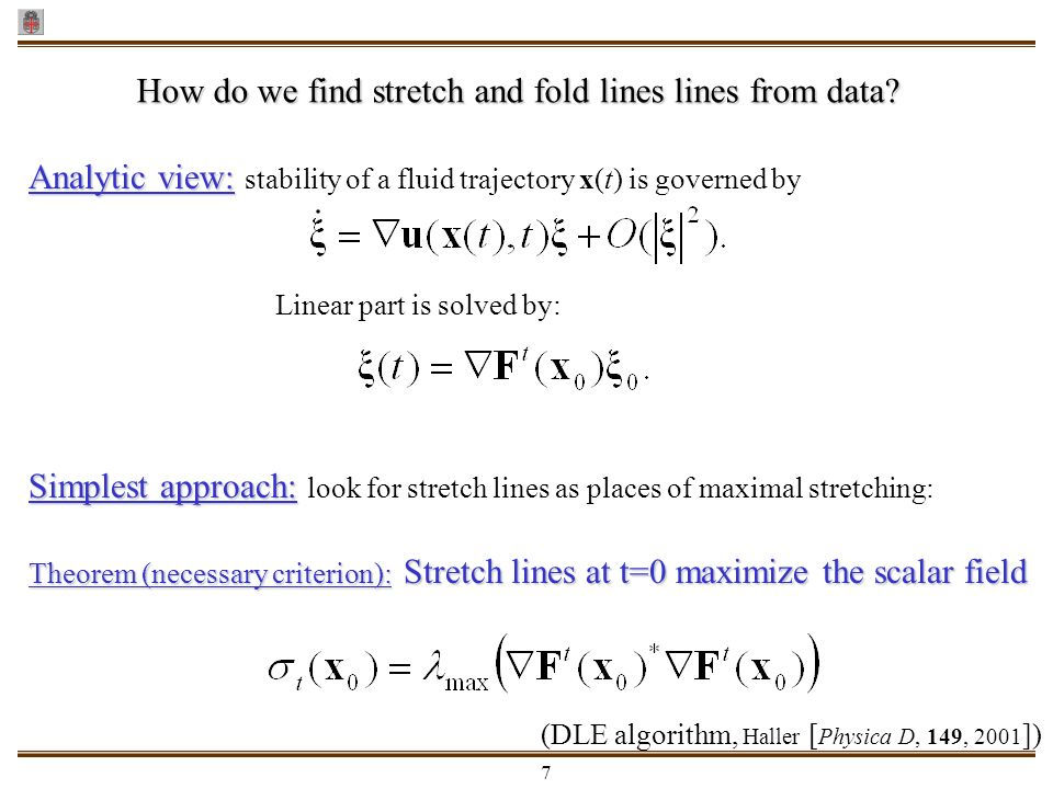 How do we find stretch and fold lines lines from data
