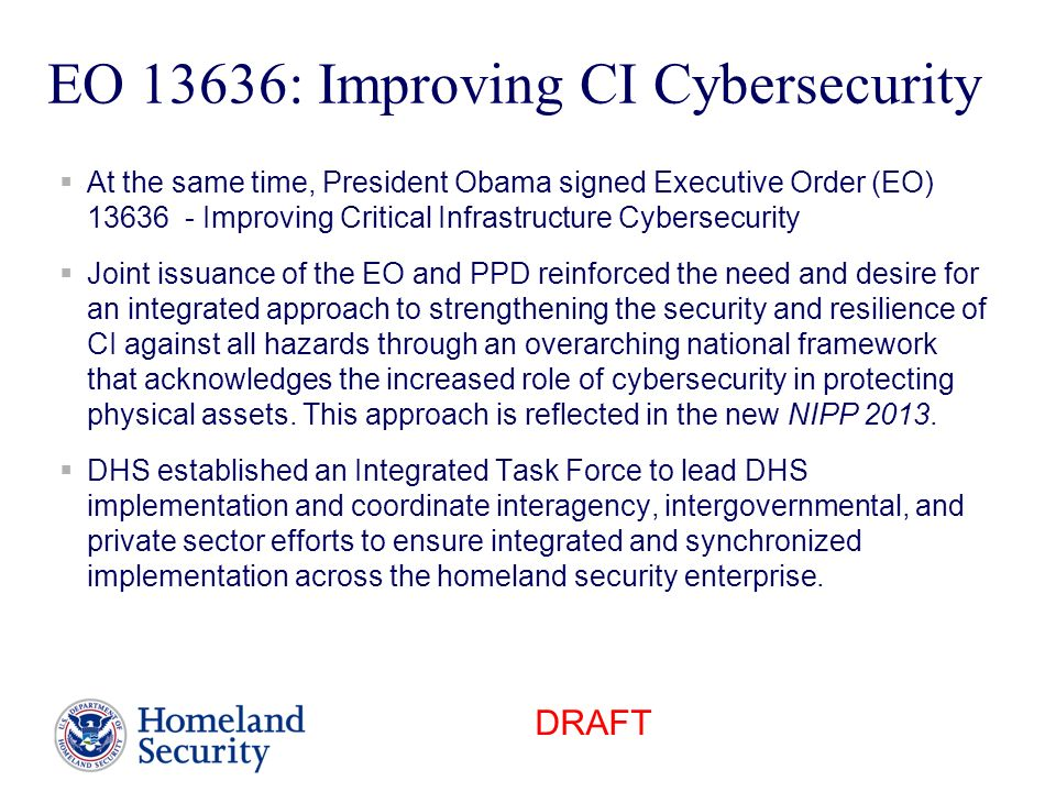 EO 13636: Improving CI Cybersecurity
