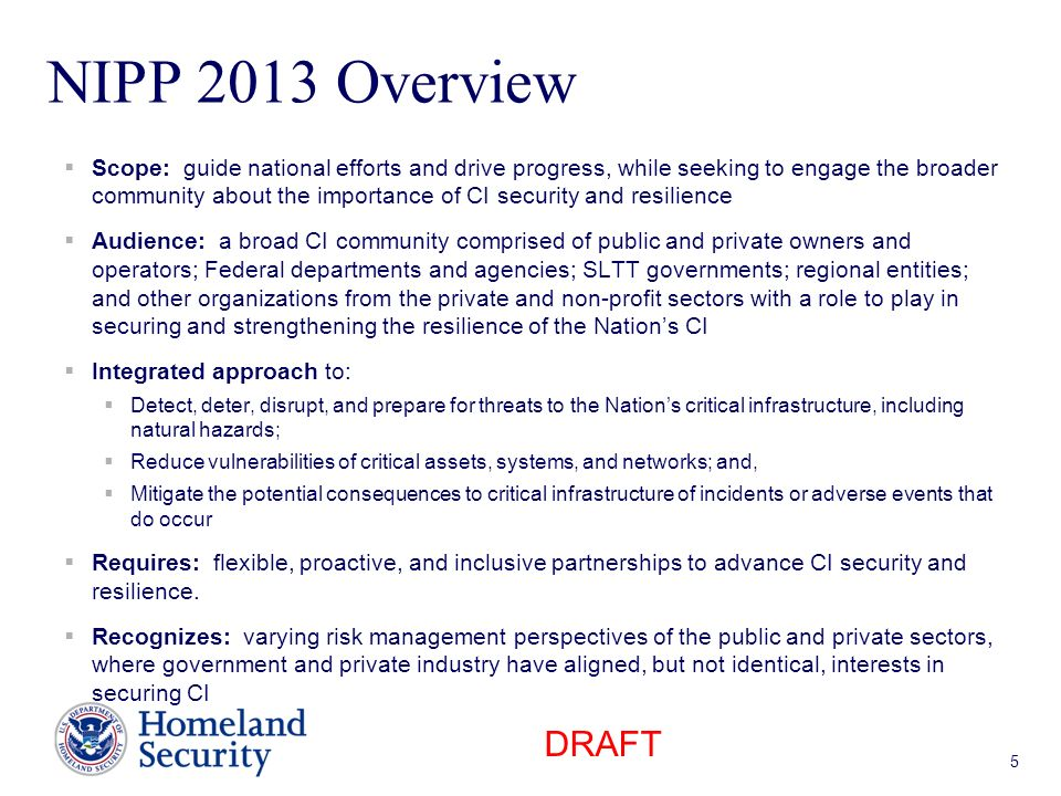 NIPP 2013 Overview