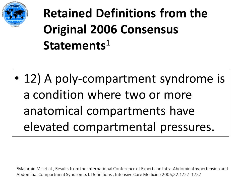 Retained Definitions from the Original 2006 Consensus Statements1
