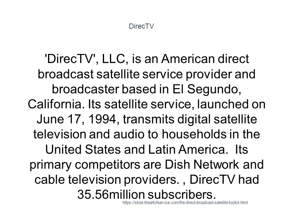 Number of DirecTV's and Dish Network's subscribers in the U.S. from 2007 to 2014