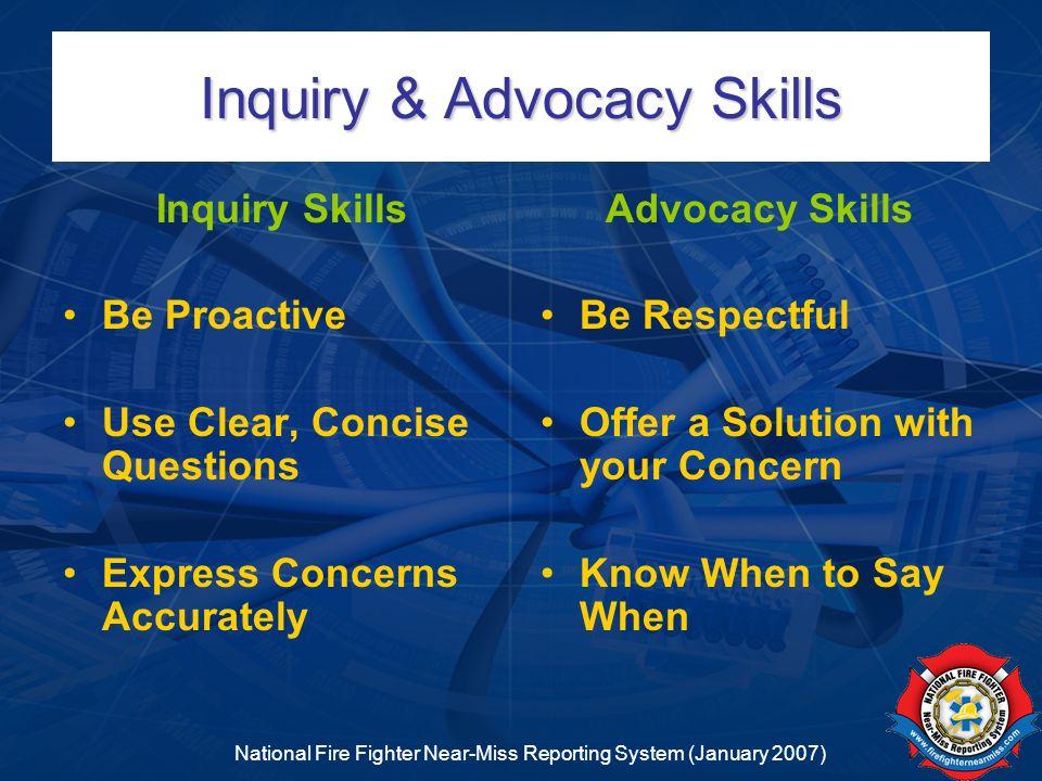 Inquiry & Advocacy Skills