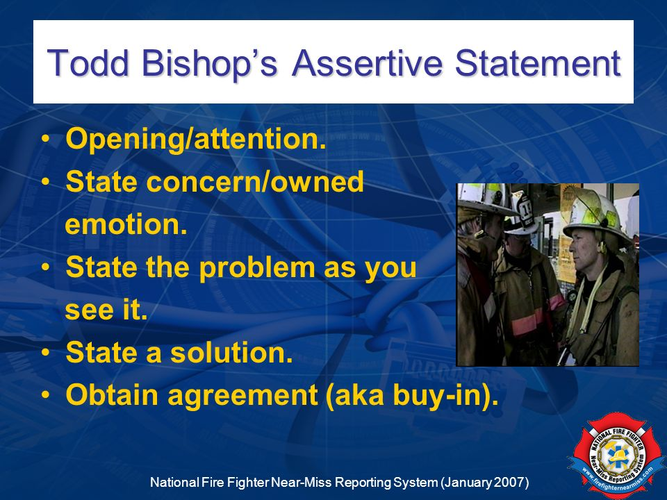 Todd Bishop's Assertive Statement