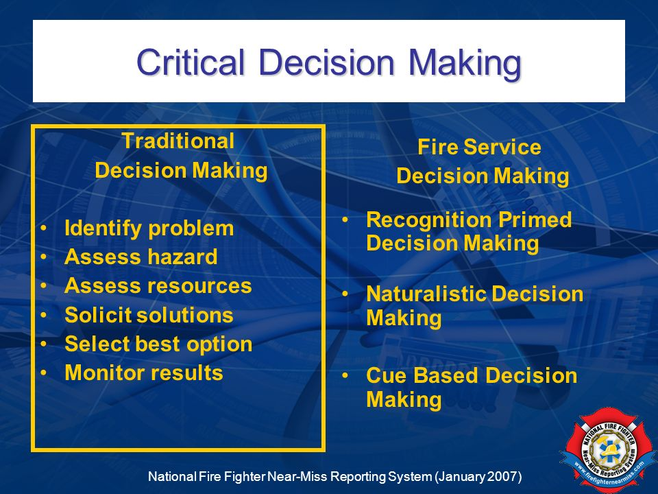 Critical Decision Making
