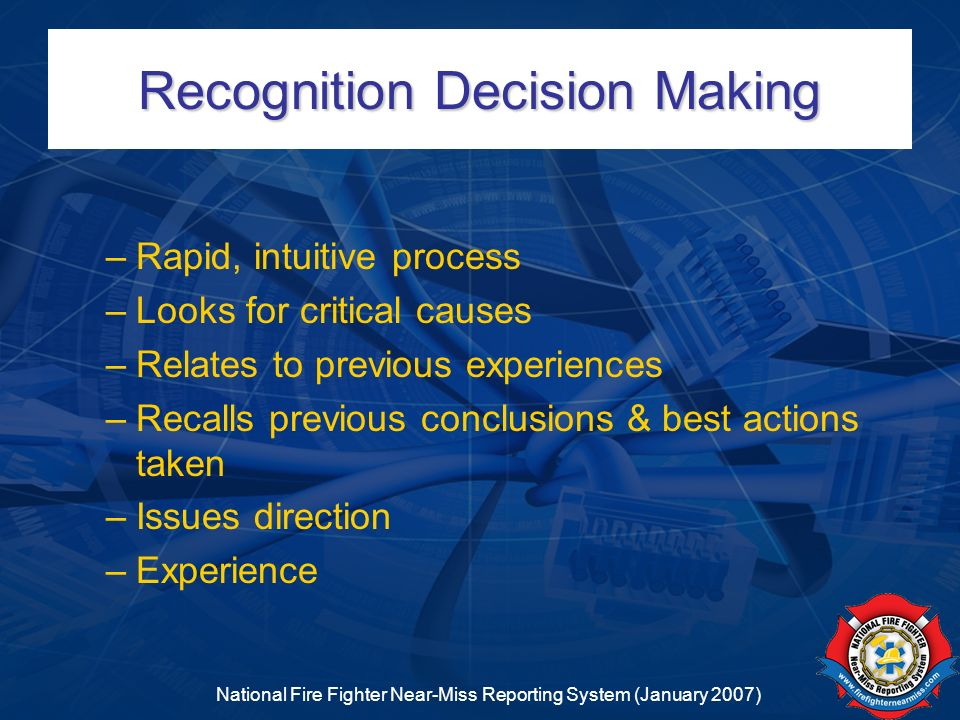 Recognition Decision Making