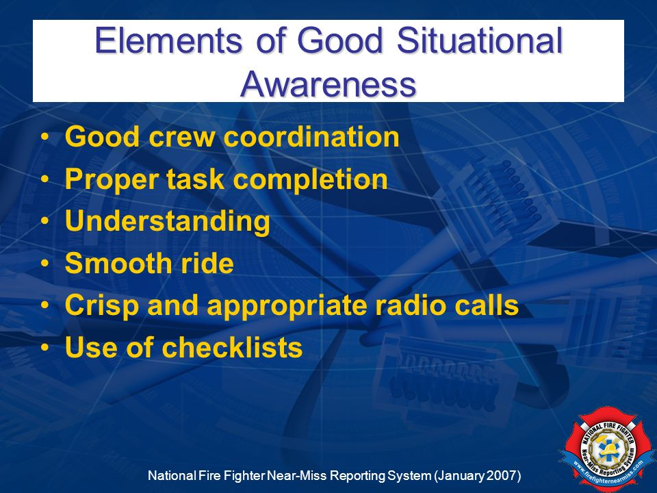 Elements of Good Situational Awareness