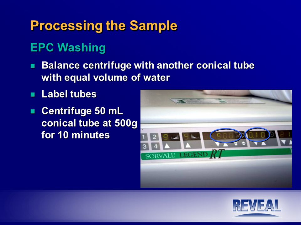 Processing the Sample EPC Washing