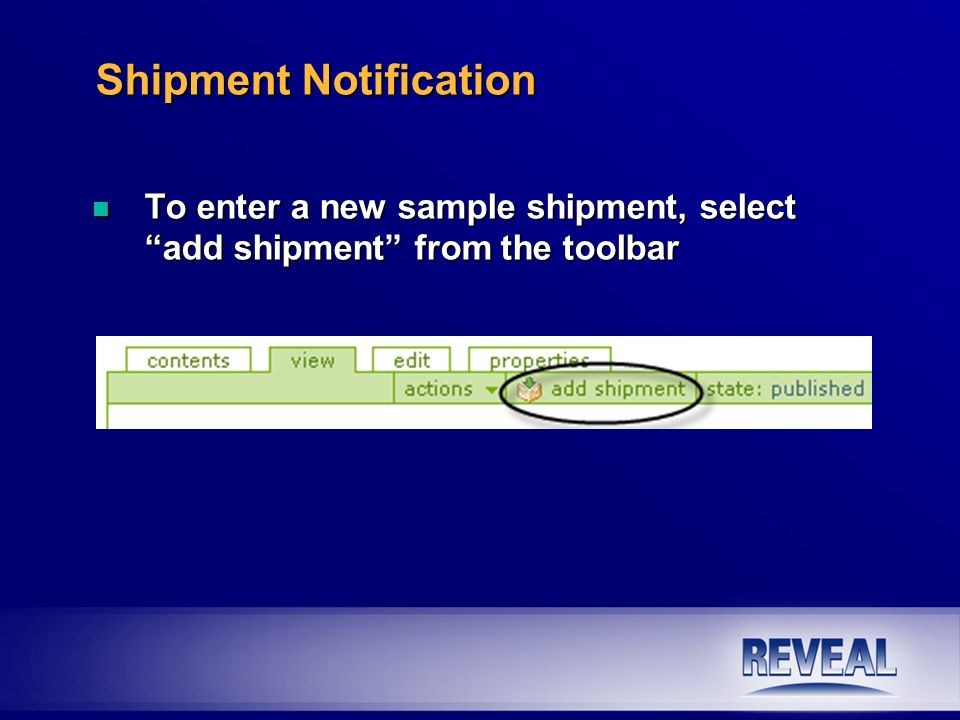 Shipment Notification