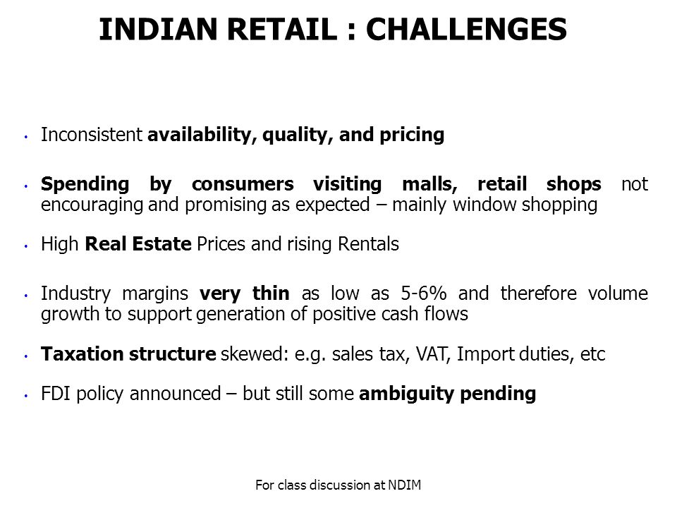 indian retail industry its growth challenges Download citation on researchgate | an overview of retail industry in india: its growth, challenges and opportunities | the indian retail sector is witnessing tremendous growth with the changing .