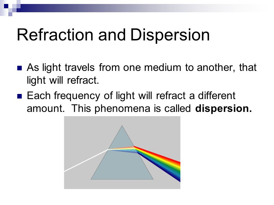 Refraction and Dispersion