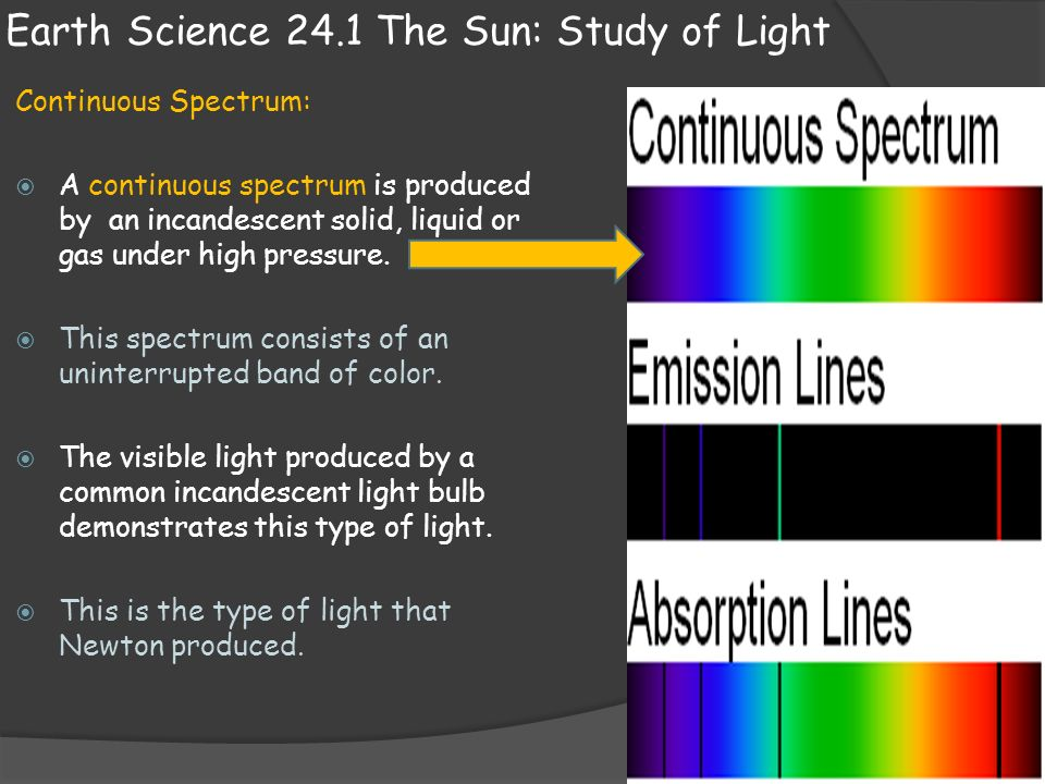 Earth Science 24 1 The Sun Study Of Light Ppt Video