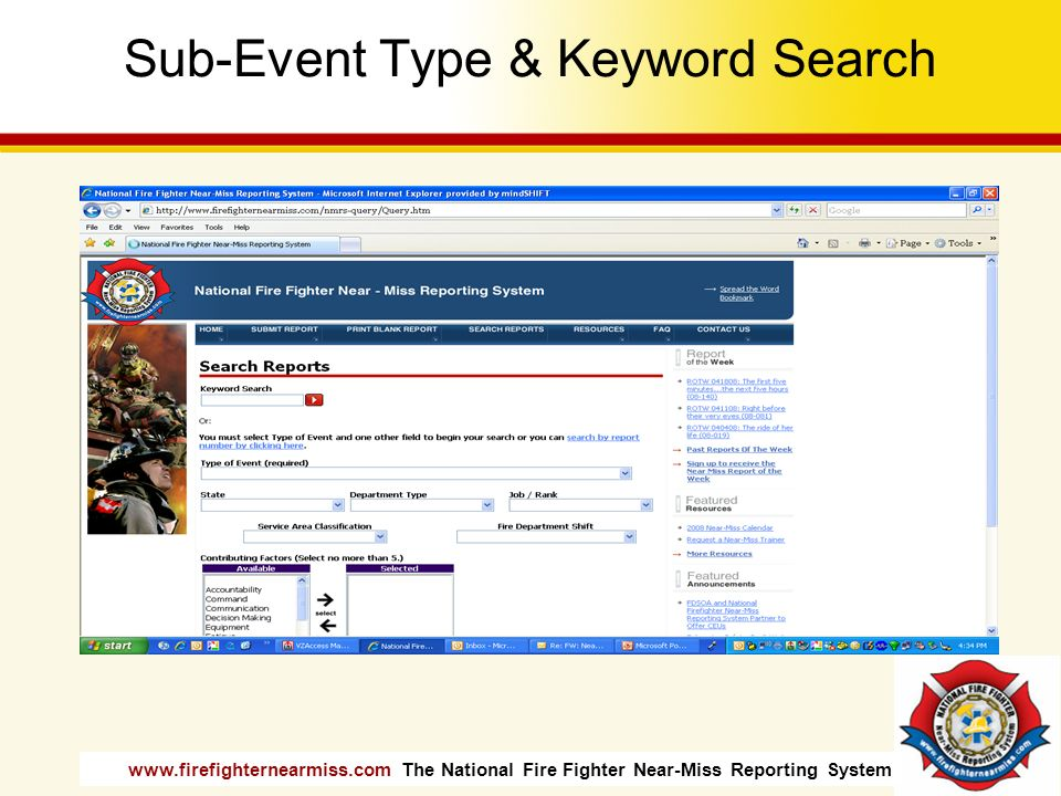Sub-Event Type & Keyword Search