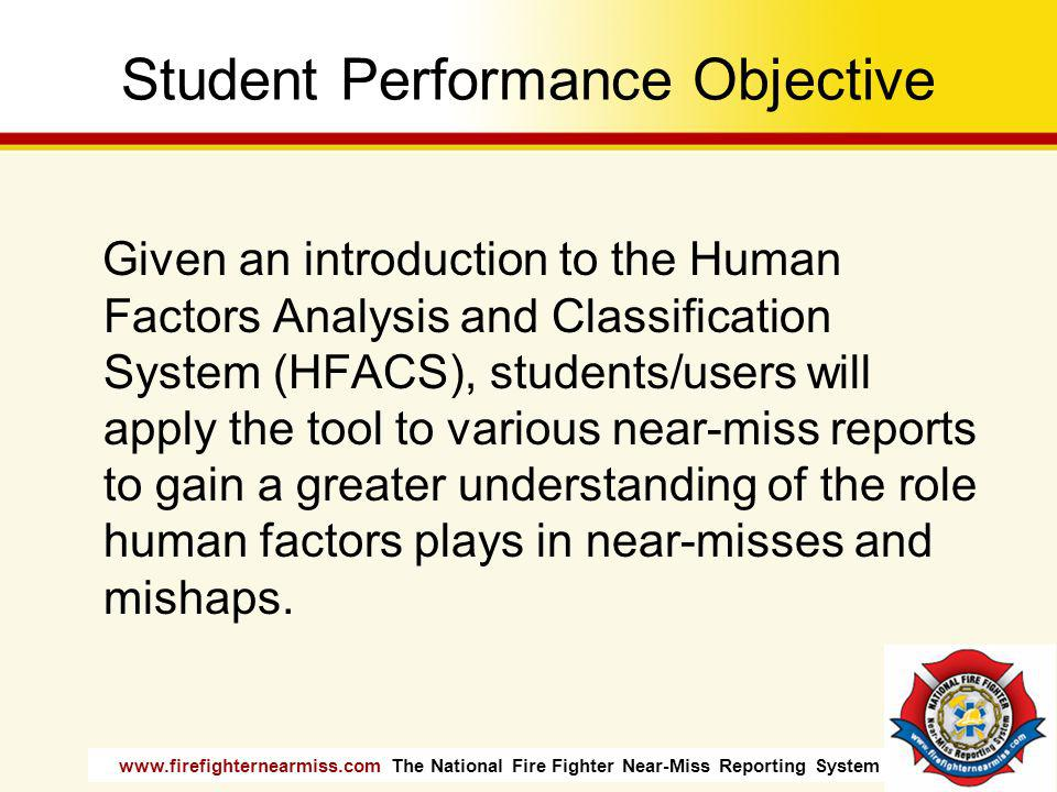 Student Performance Objective