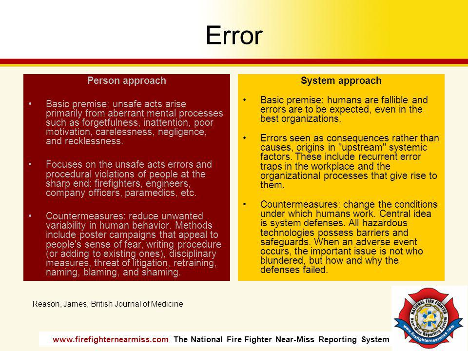 Error Person approach.