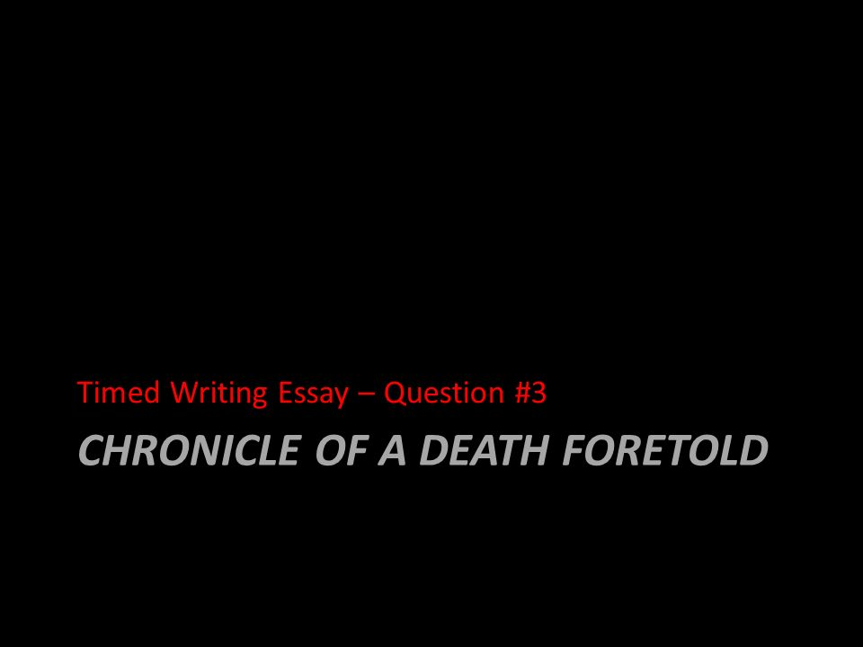 chronicle of a death foretold ppt  21 chronicle of a death foretold