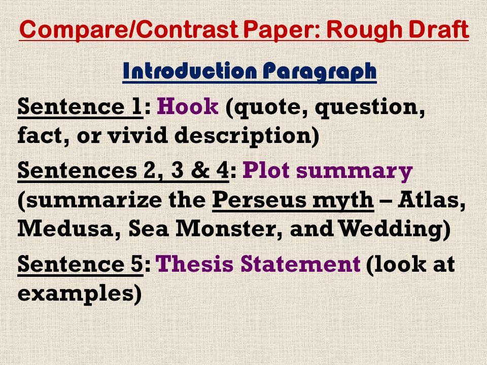 compare contrast paper rough draft ppt  compare contrast paper rough draft