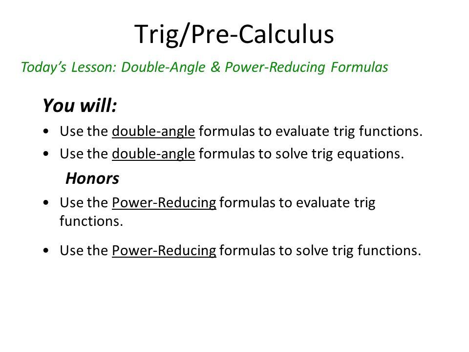 Trig Homework Solver