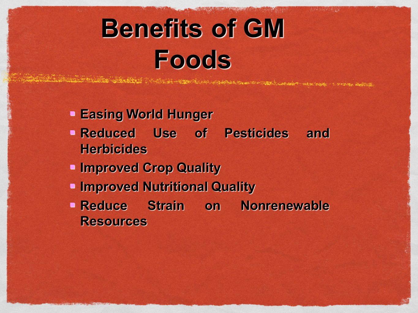 gm foods and world hunger How gmos can bridge the gap between healthy food and low income  this  will improve the availability of food at global and local levels.