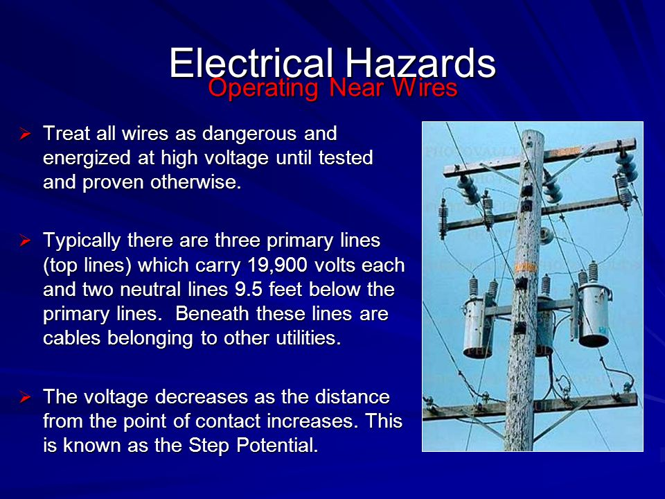 Electrical Hazards Operating Near Wires