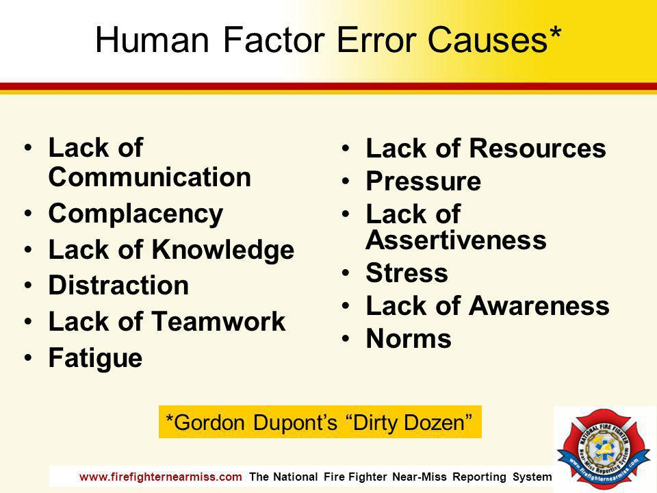 Human Factor Error Causes*