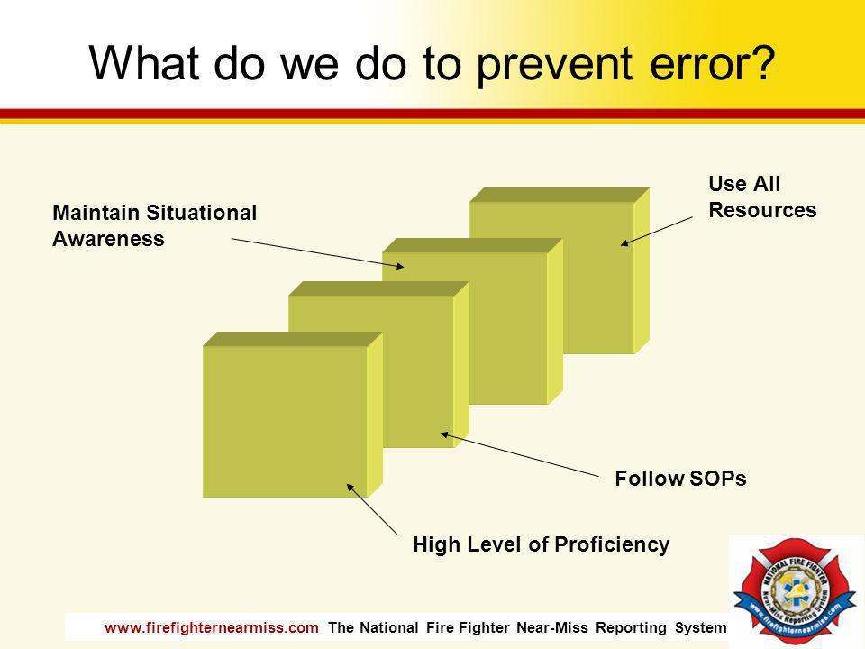 What do we do to prevent error