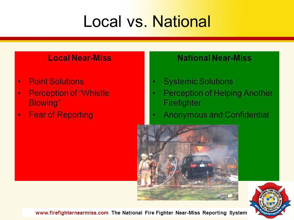 Local vs. National Local Near-Miss Point Solutions