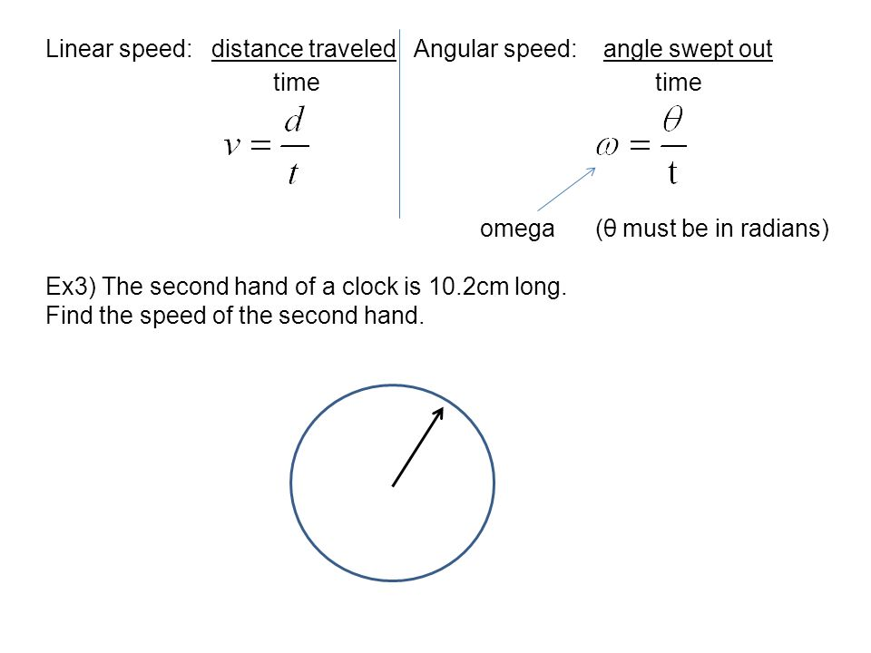how to find linear speed with revolutions