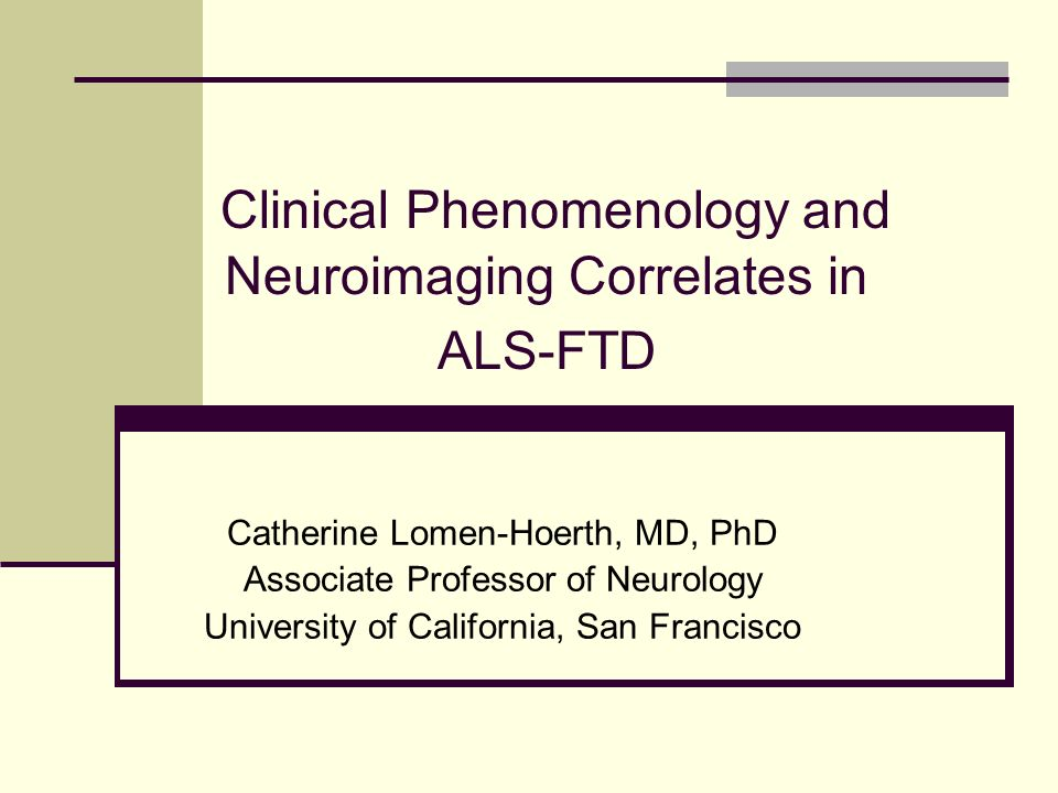 Clinical Phenomenology and Neuroimaging Correlates in ALS-FTD