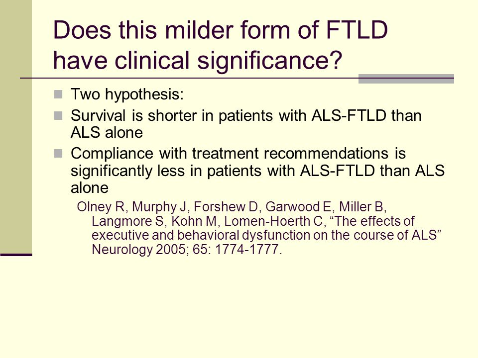 Does this milder form of FTLD have clinical significance
