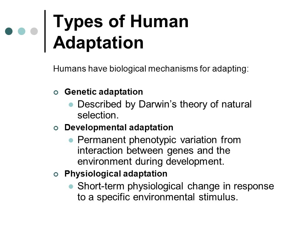 Human Adaptation to a Changing World - ppt video online ...