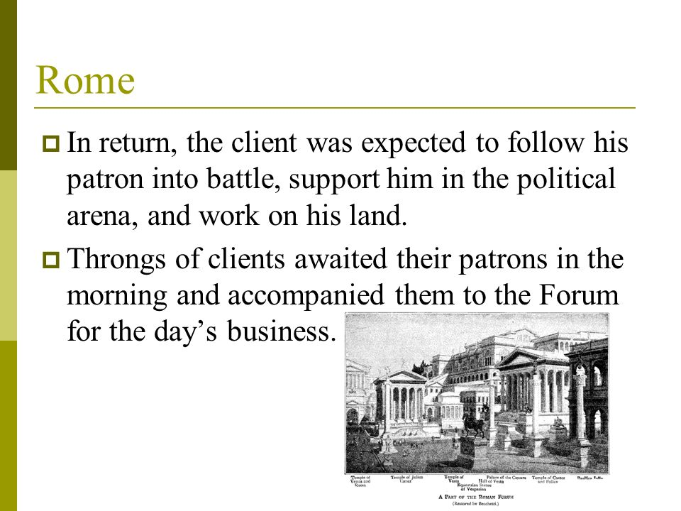 roman patron and client relationship