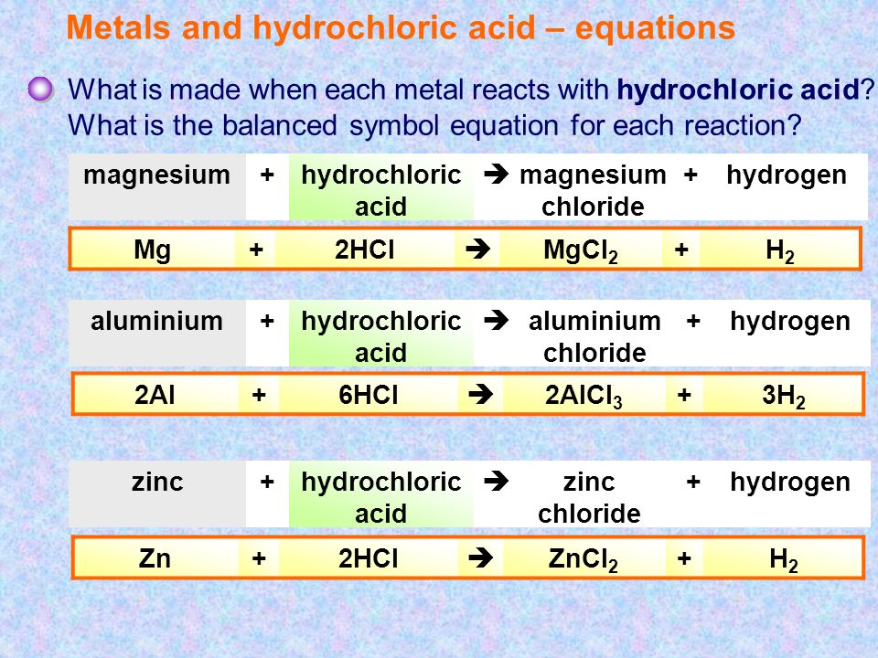 rate of reaction with zinc and hydrochloric acid Lab report – reaction rate aim: the purpose of this experiment is to find out what determines the speed of a reaction (in this case, between hydrochloric acid and zinc) hypothesis: i believe that the most concentrated the hcl is, the faster the reaction will be.