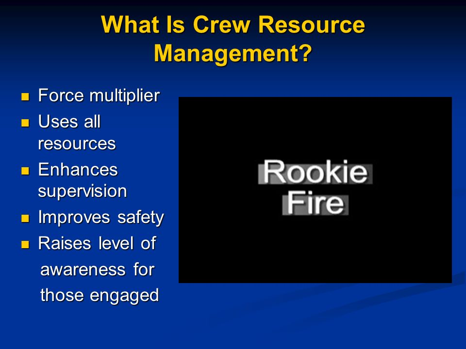 What Is Crew Resource Management