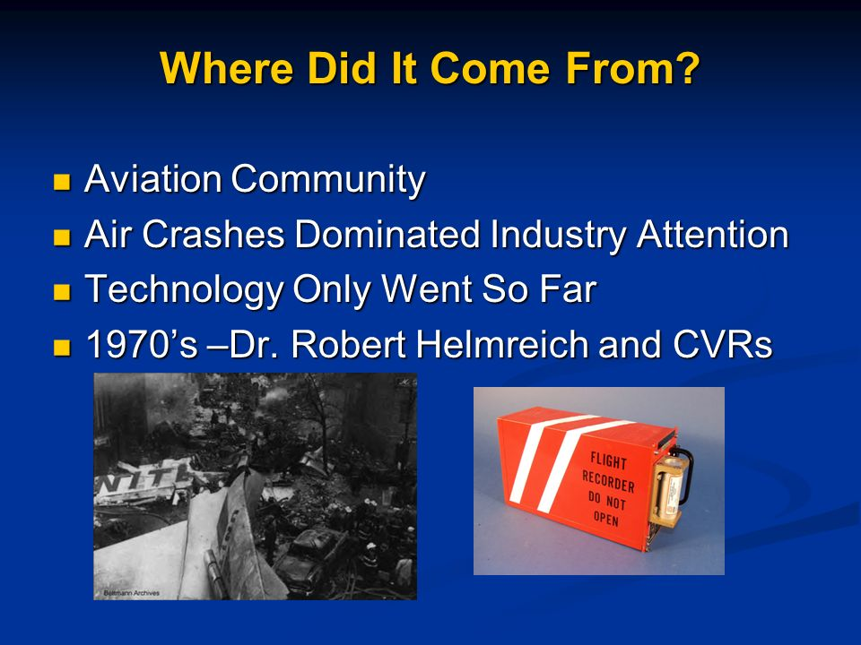 Where Did It Come From Aviation Community