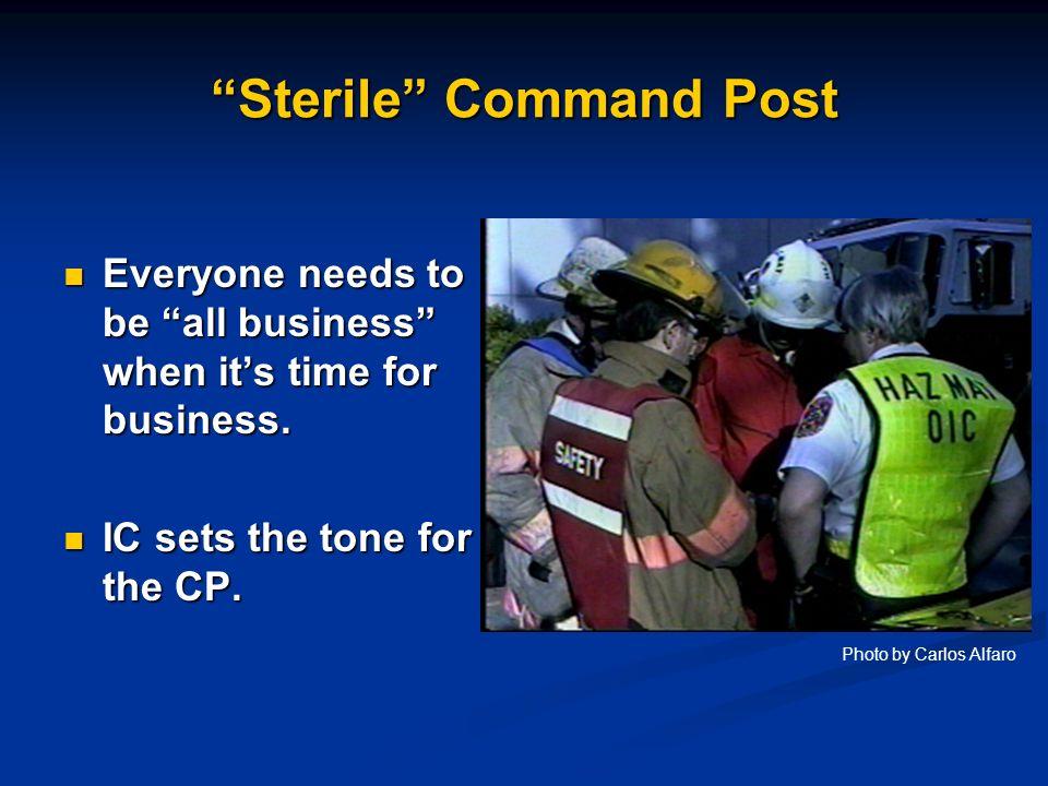 Sterile Command Post