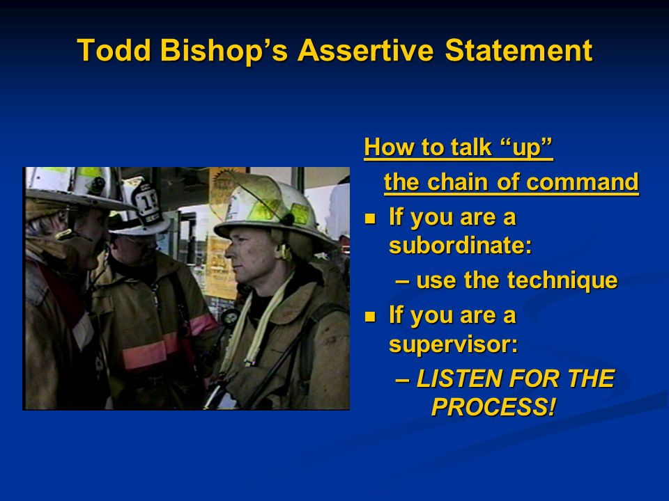 Todd Bishop's Assertive Statement