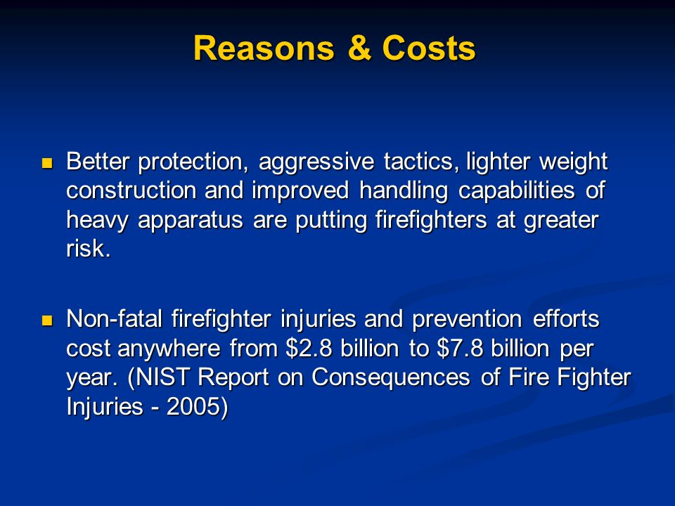 Reasons & Costs