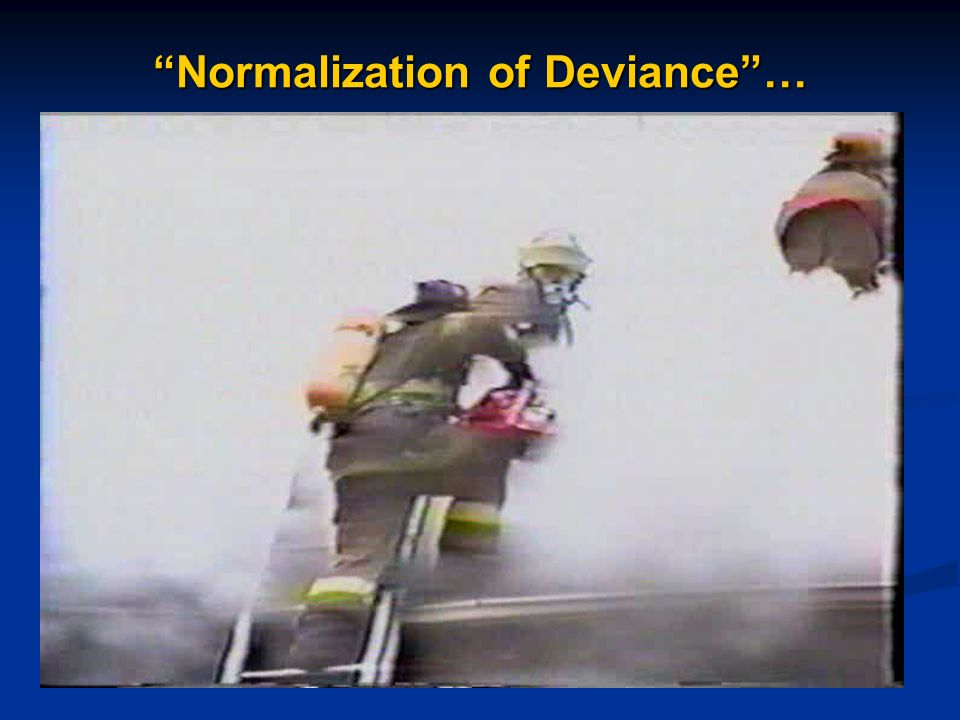 Normalization of Deviance …