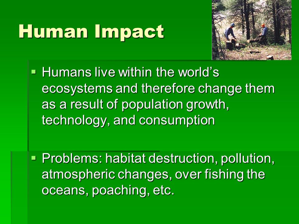 Impact technology mankind and natural world