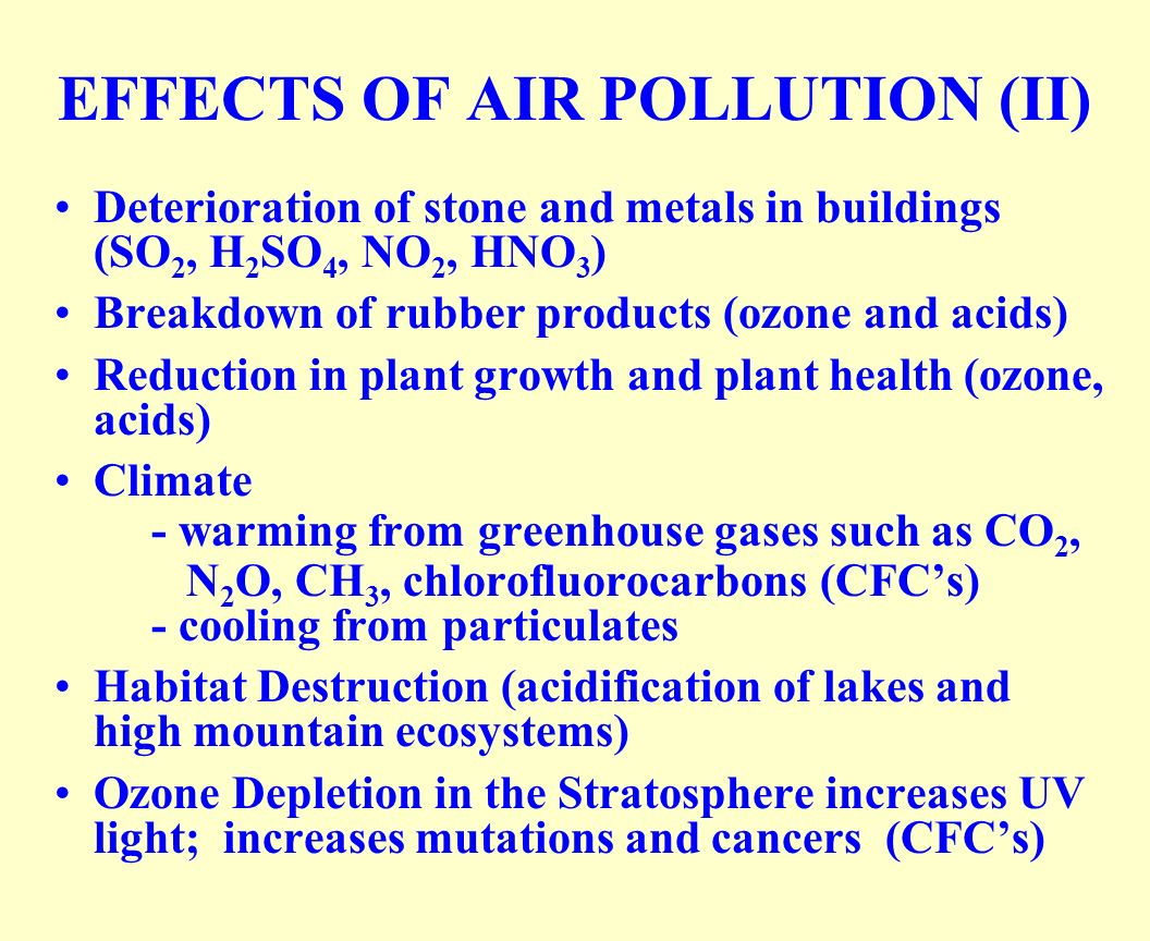 air pollution effects on the structural What is air pollution and what are the various factors contributing to air pollution history what are the various ill-effects of toxic air pollutants.